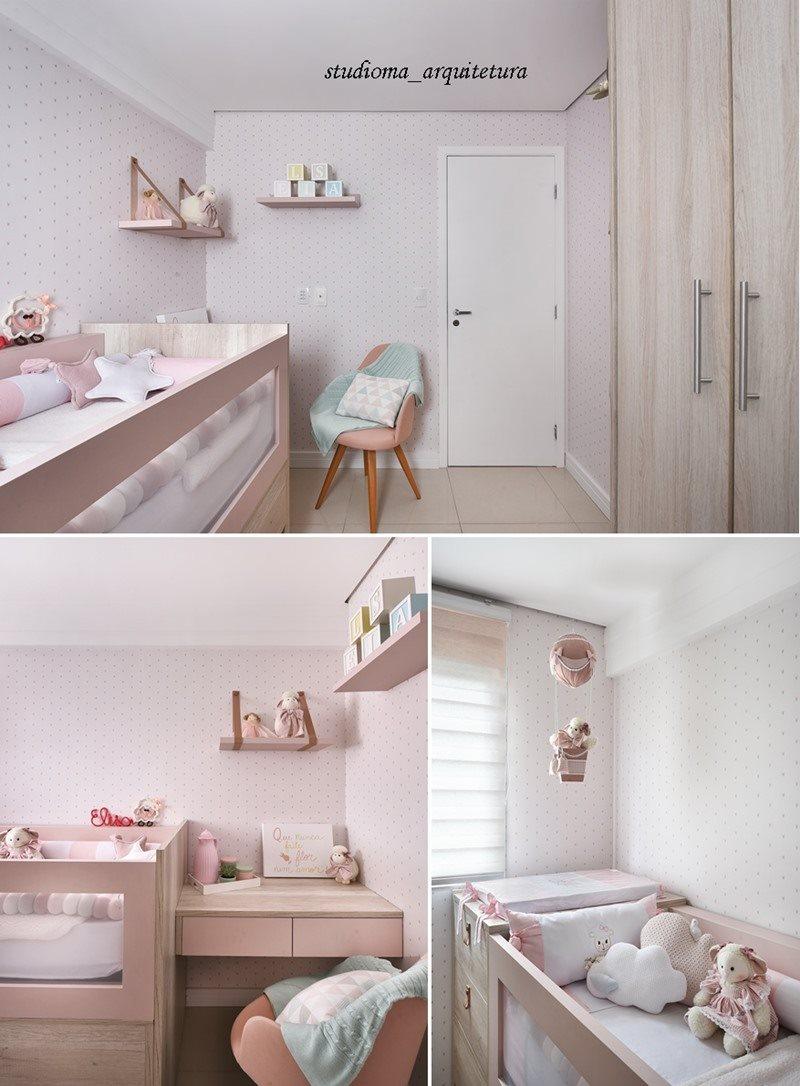 quarto de bebê em rosa