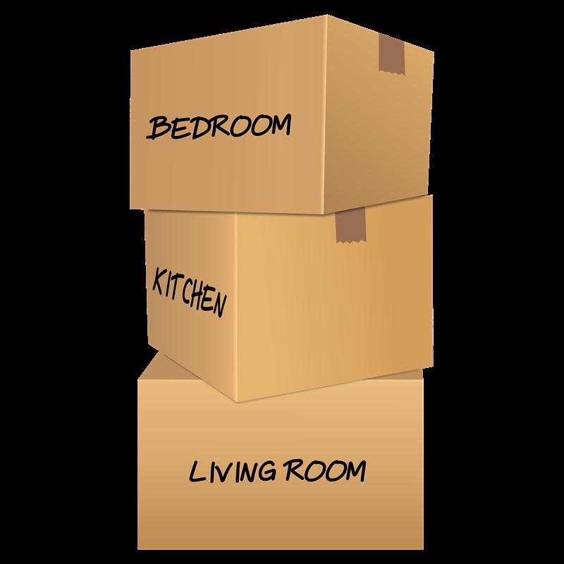 caixas organizadas para mudança
