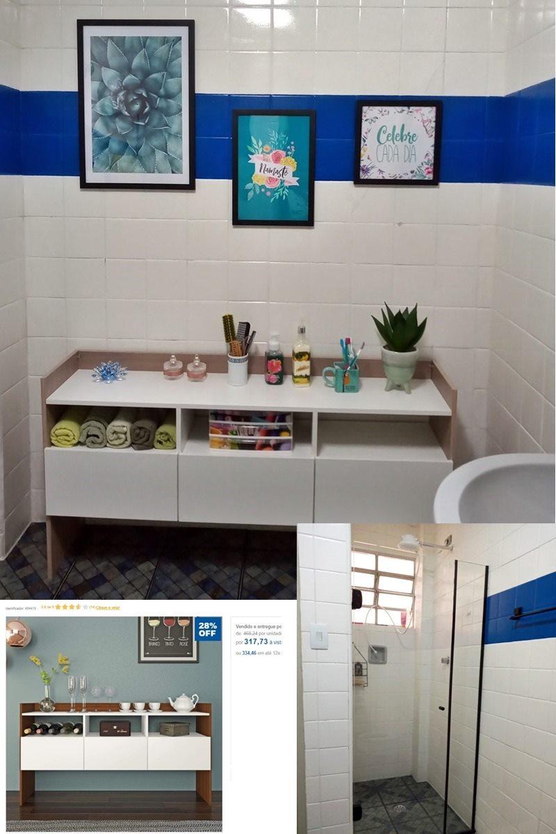 decoração rápida e barata na pandemia - banheiro depois