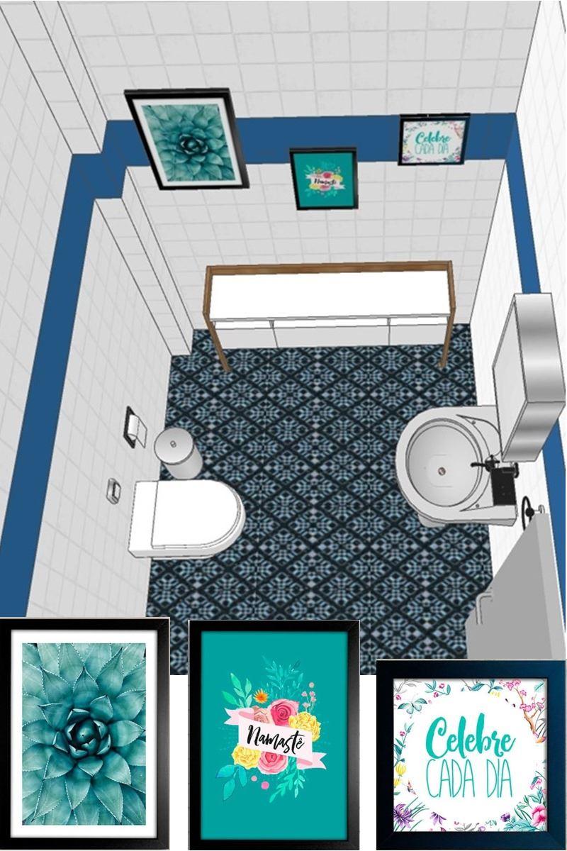decoração rápida e barata na pandemia - banheiro projeto