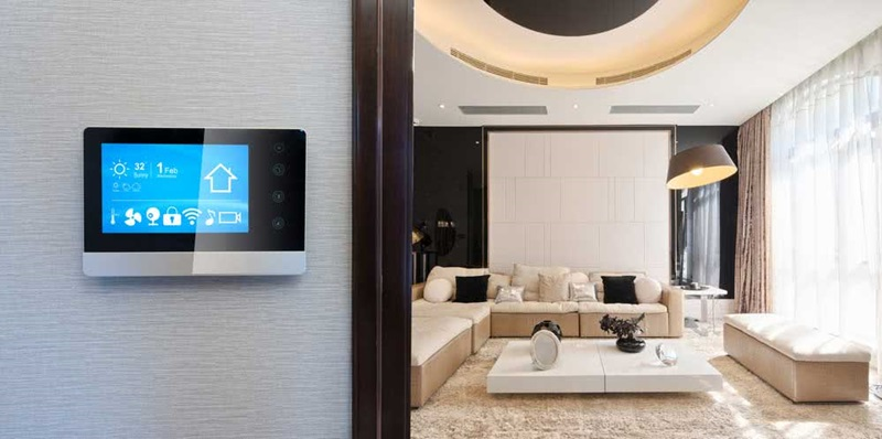 automação na sala de estar