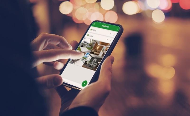 automação acionada por celular