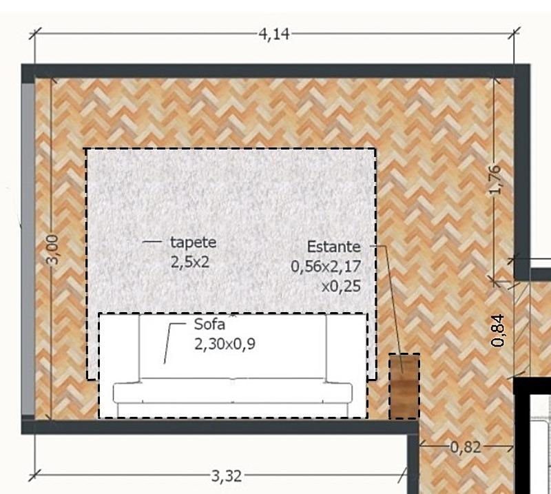 planta baixa de sala