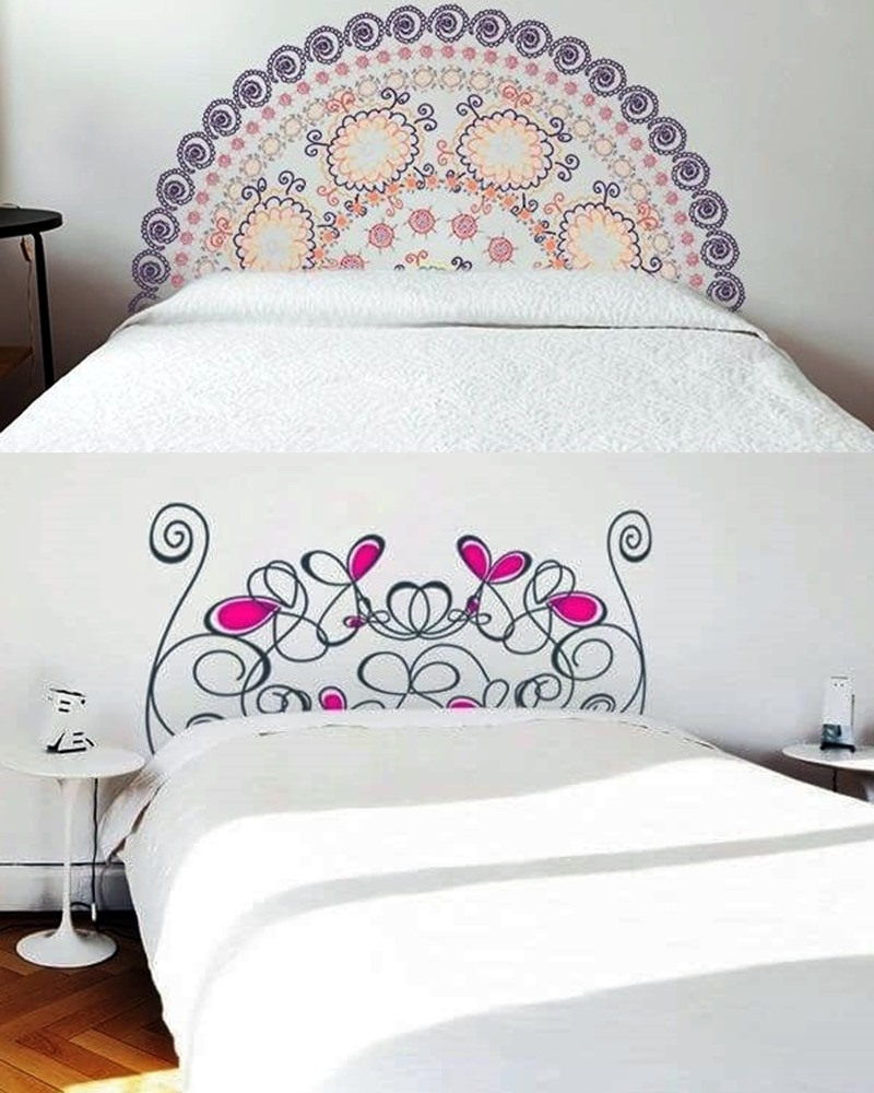 adesivo na cabeceira da cama