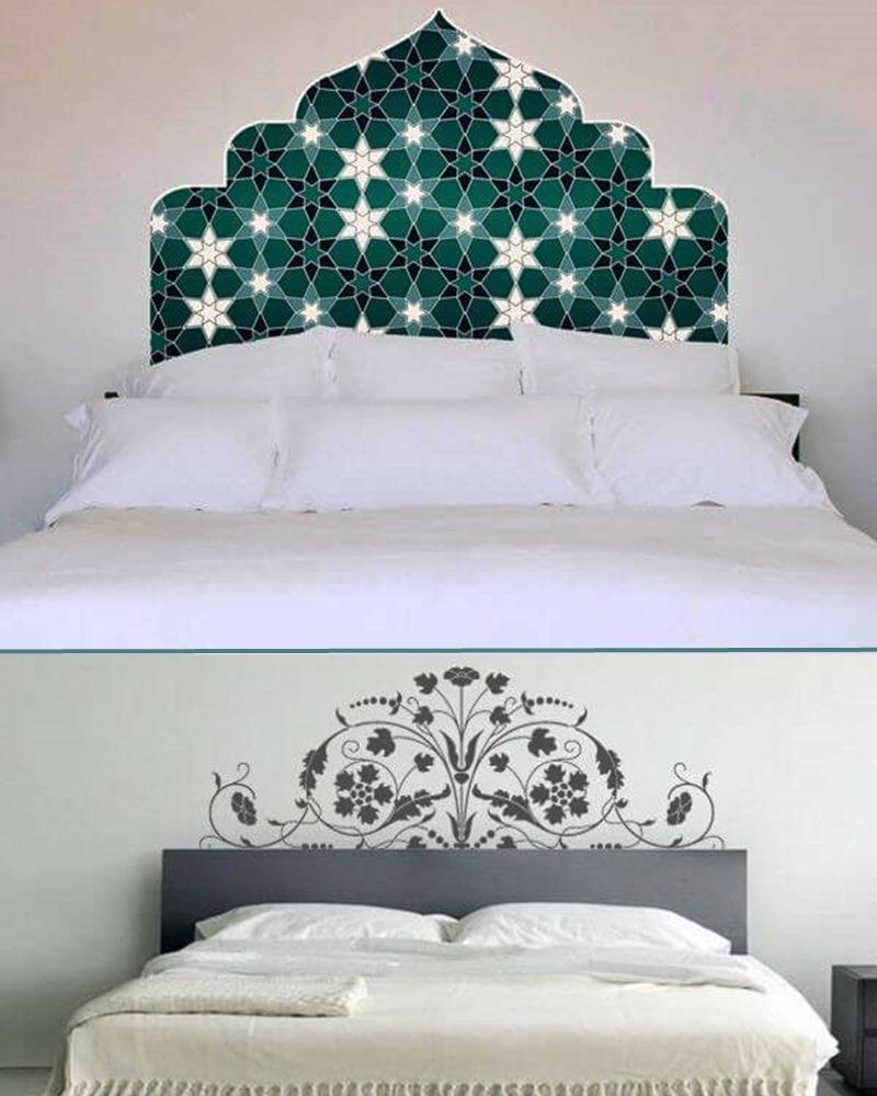 adesivo de cabeceira na cama