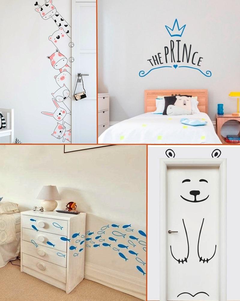 adesivos no quarto de bebe