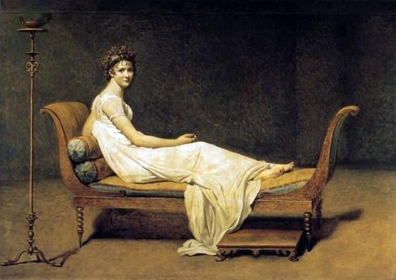 quando o recamier se tornou famoso - pintura da época napoleônica