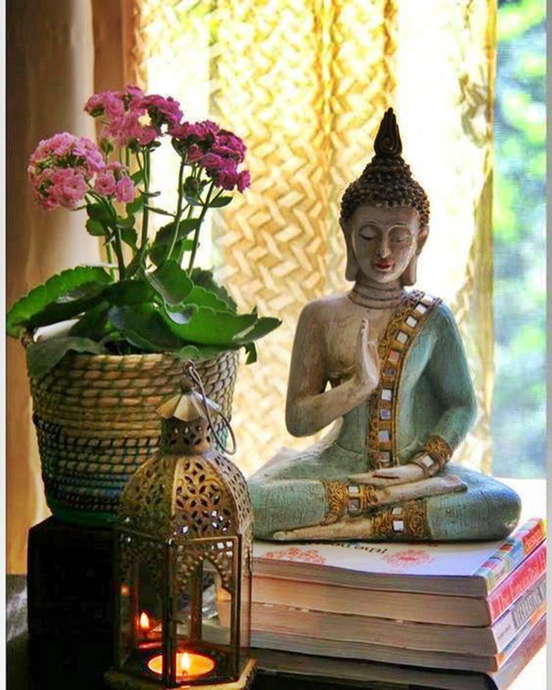 Imagens plantas e velas no cantinho zen