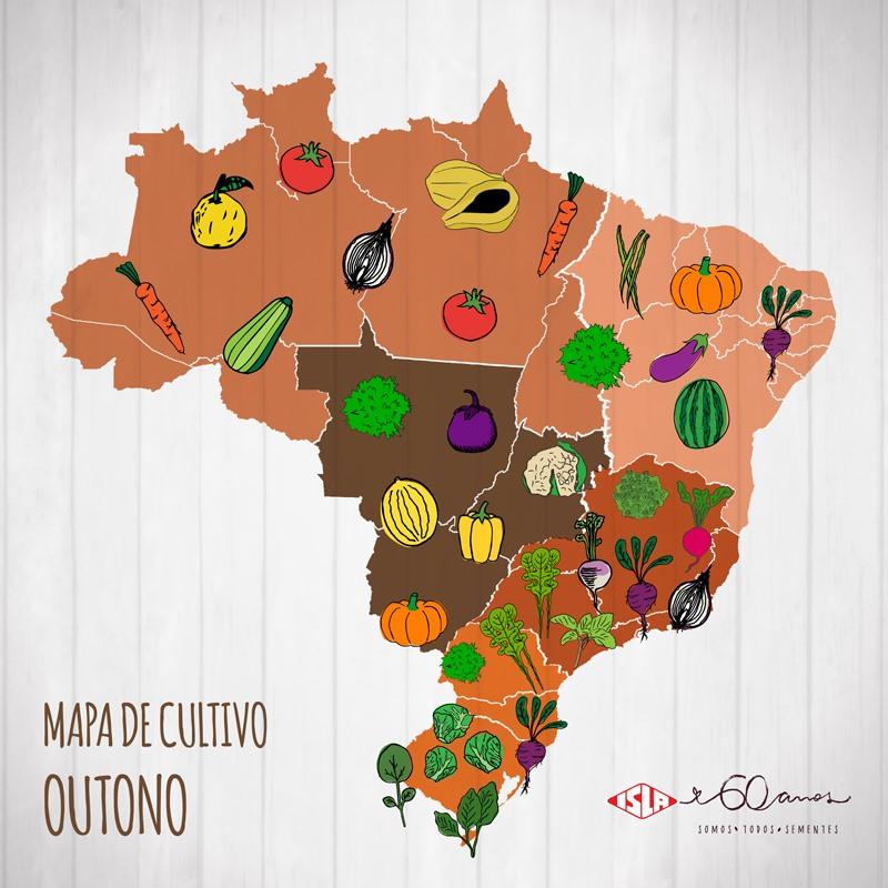 mapa de cultivo horta no brasil - horta caseira no outono