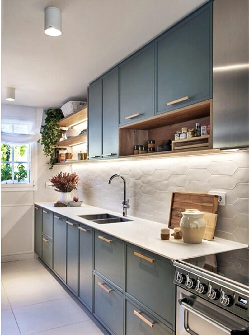 Como guardar temperos  - cozinha azul e branca