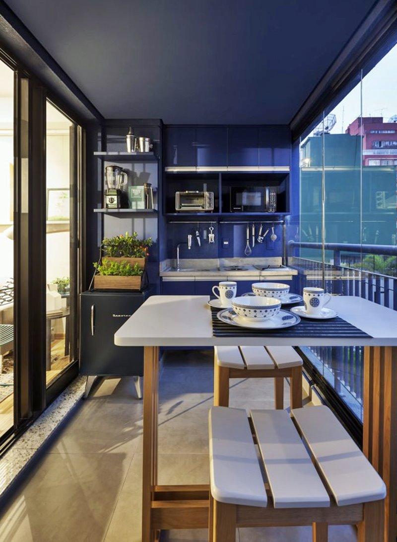 Cozinha na varanda