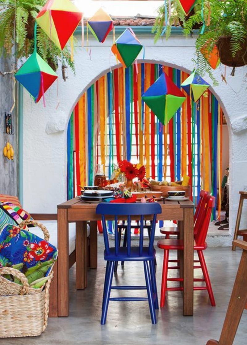 festa junina em casa decoração com balões