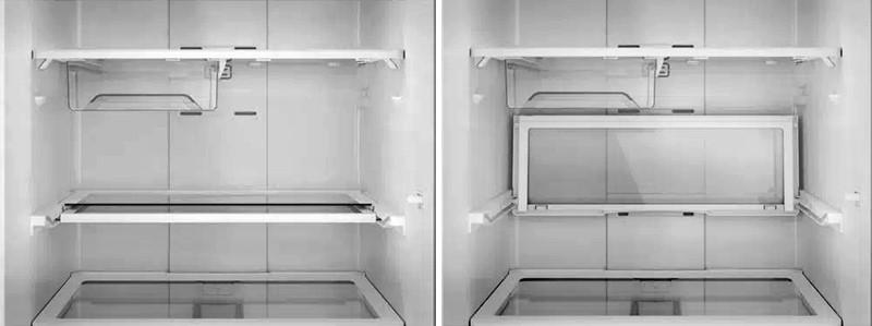 prateleira retrátil geladeira