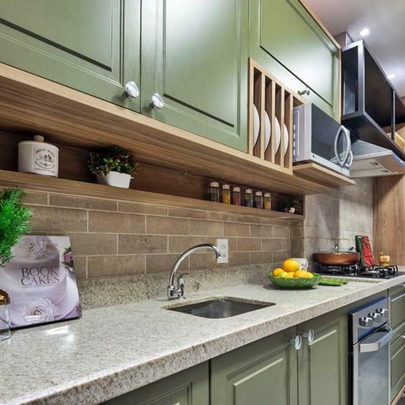 cozinha verde granito