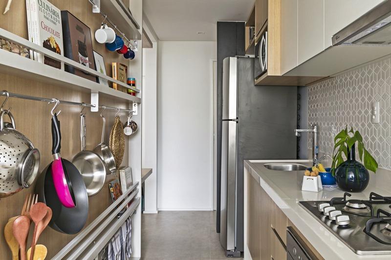 aproveitando o espaço da cozinha pequena