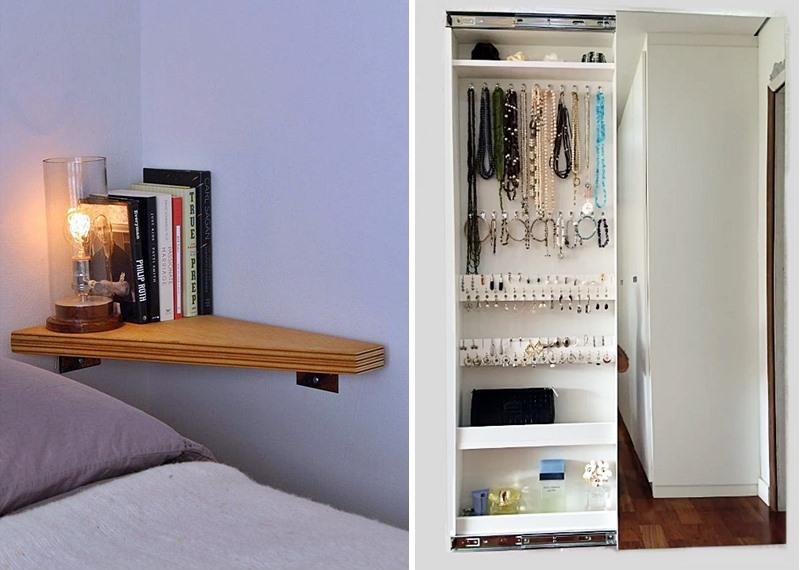 aproveitando espaços pequenos no quarto