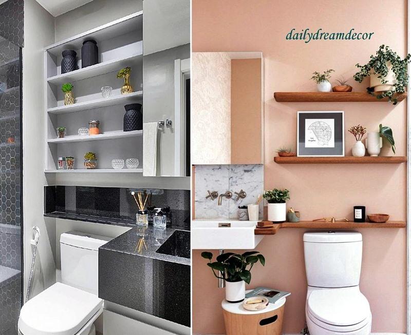 Aproveitando espaço nos banheiros pequenos