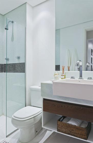 Banheiros Em Branco E Preto Simples Decoracao