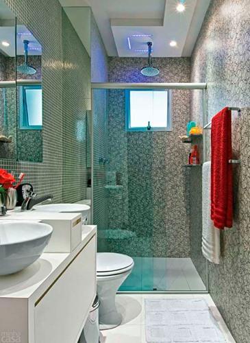 Como Decorar Com Iluminação Embutida Banheiro Simples