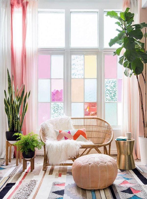 casavoguegila-diy-window-film-happy-bright-pastel-emily-henderson-bamboo-seating-area-14