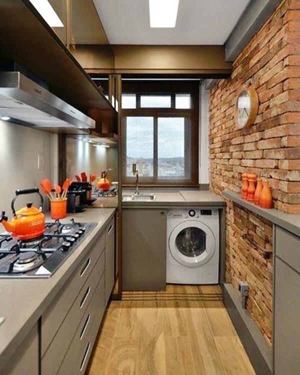 20 áreas de serviço para cozinhas corredor