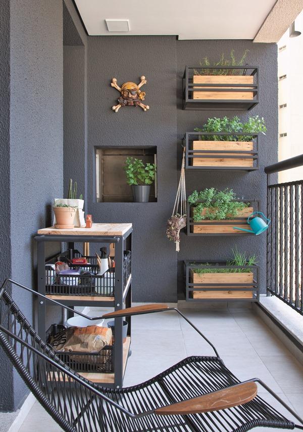 Decoração de pequenas varandas – 20 ideias