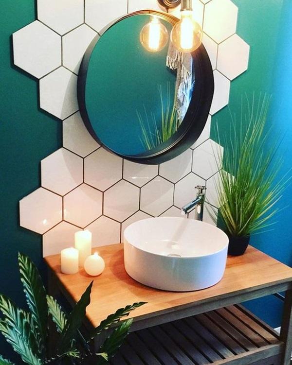 Pequenos banheiros com decoração simples e barata