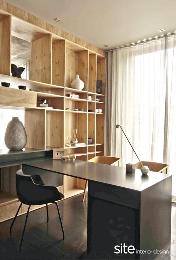 Escritório pequeno na casa ou apartamento