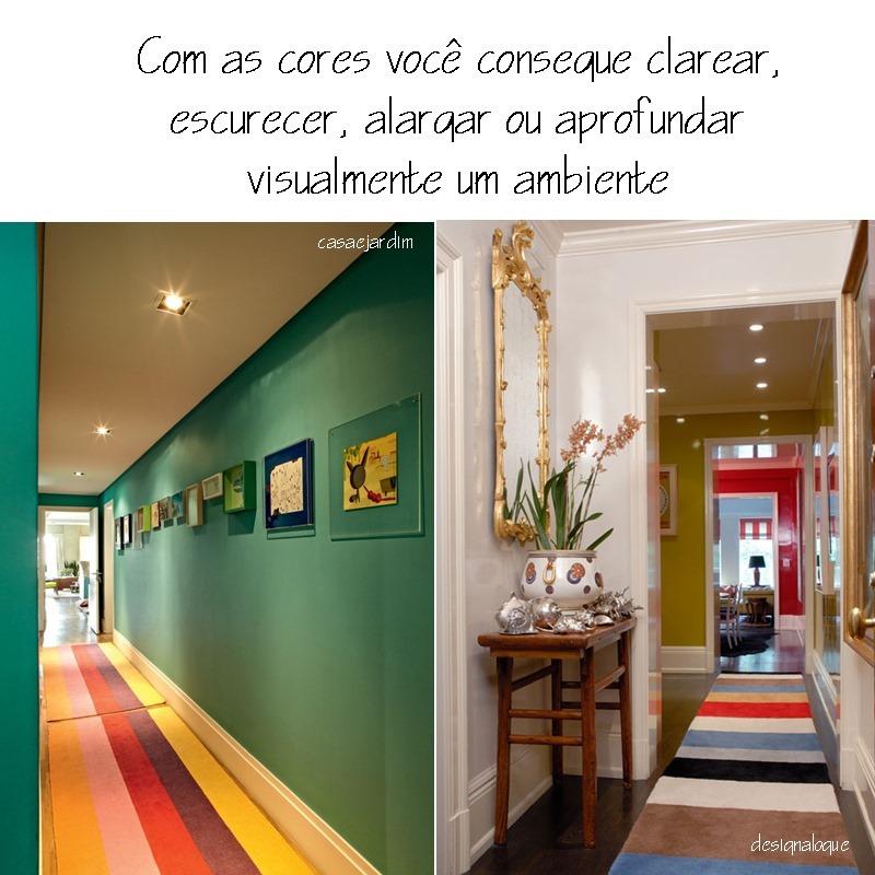 corredores e cores