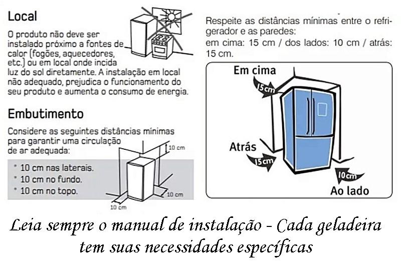 Manual de instalação de geladeiras