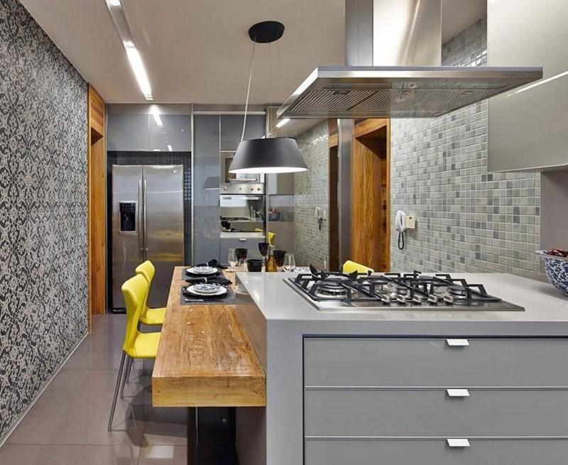 a melhor geladeira para sua casa - cozinha com ilha